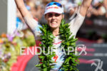 Lucy Charles (GBR) at the finish of the 2018 Ironman…
