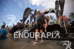 Matt Hanson enters the water at the 2018 Ironman World…