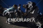 Participants prep for the race start at transition area 1…